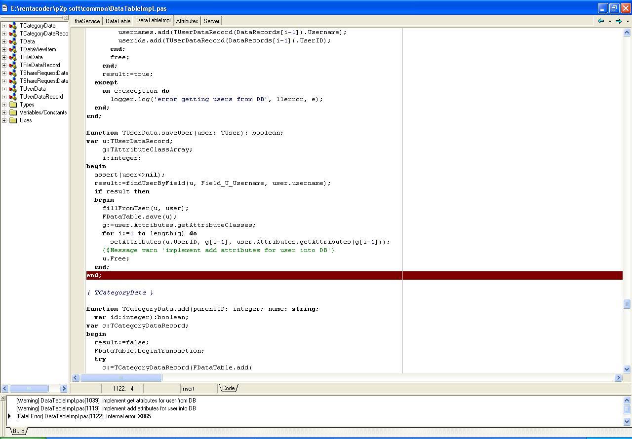 internal error x865