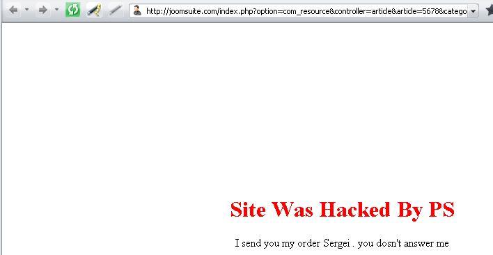 Joomsuite hacked